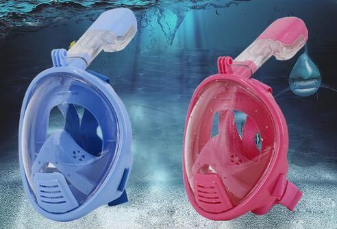 Seal Diving Face Cover Maschera subacquea Underwater Anti Fog Full Face Snorkeling Maschera Bambini Bambini Nuoto Snorkel Diving Equipaggiamento xs taglia
