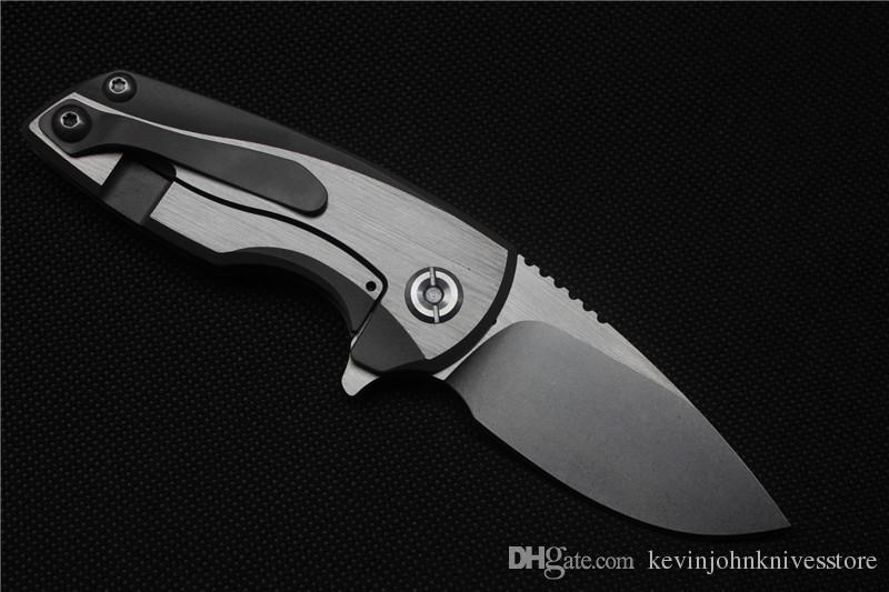 Livraison gratuite, Malyshev Gnome couteau pliant poche couteau en plein air couteau D2 en acier inoxydable lame Ti poignée outil de chasse de survie livraison gratuite