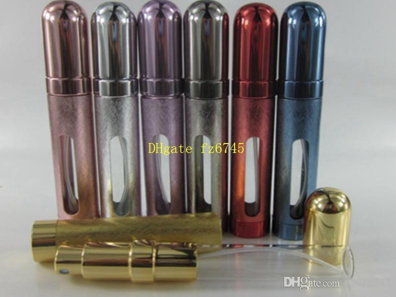 12ML Metal Shell Glass Inner Aluminum Nozzle mini Perfume Spray Portable Bottle Travel Atomizer Refillable bottles