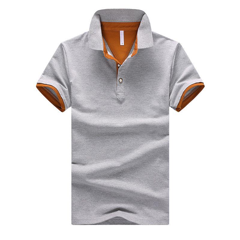 Abbigliamento di marca Polo da uomo Polo da uomo Business Casual polo uomo tinta unita manica lunga blu traspirante