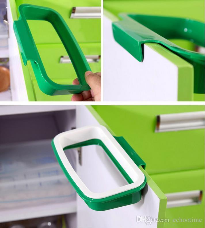 творческий задней двери из нержавеющей стали мешок для мусора полка для хранения крюк многофункциональный кухонный шкаф двери висит стойки