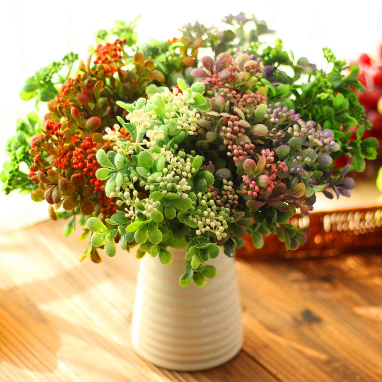Artificial flowers with small berries plastic flower floral for home artificial flowers with small berries plastic flower floral for home and desk decoration diy use artificial flowers plastic flower home decoration online izmirmasajfo Choice Image