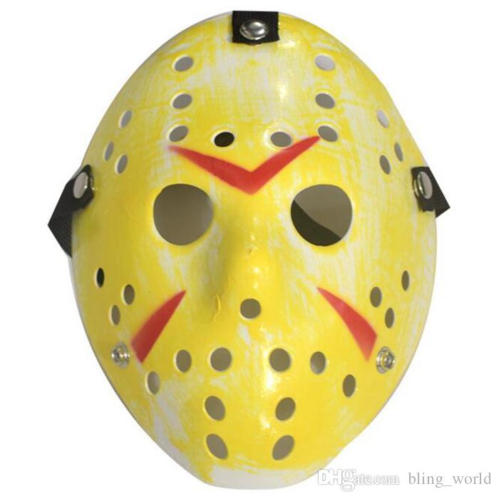 Máscara de Jason Retro Horror Engraçado Máscara Completa Bronze do Dia Das Bruxas Cosplay Masquerade Máscaras Hóquei Partido Festival de Páscoa Suprimentos YW202