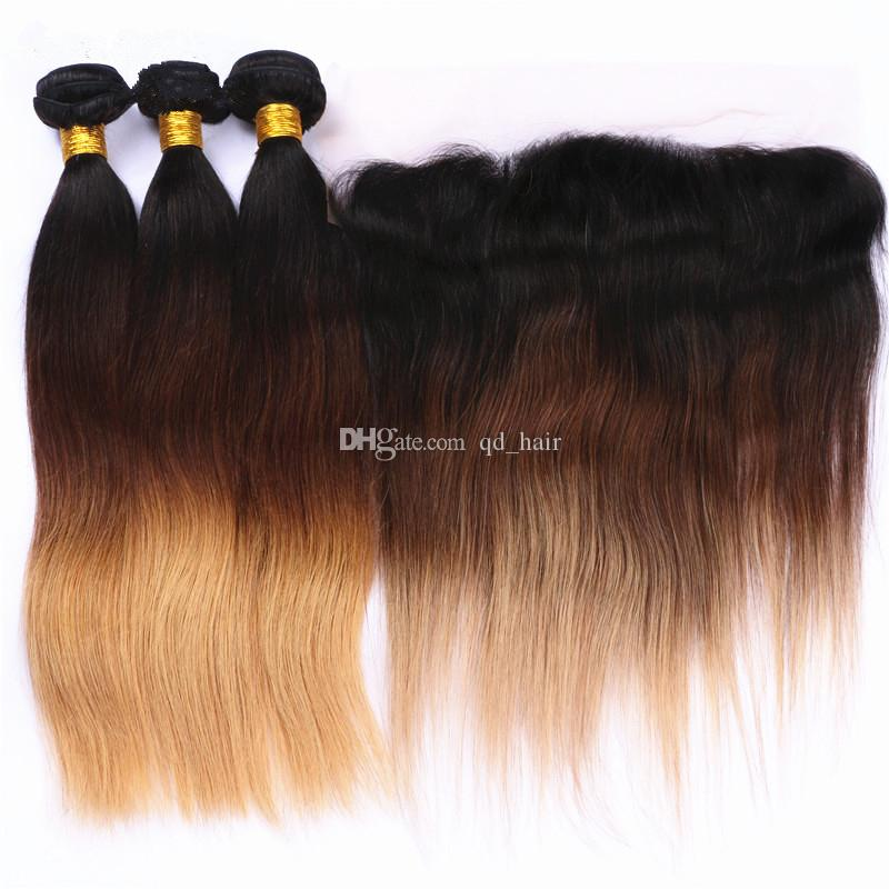 2018 13x4 Ear To Ear Frontal With Ombre Hair Extension Dark Root 1b