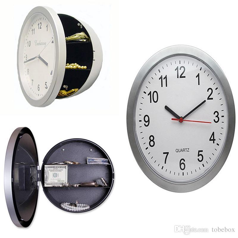 2018 Storage Box Clocks Hidden Secret Wall Clock Safe Money Stash