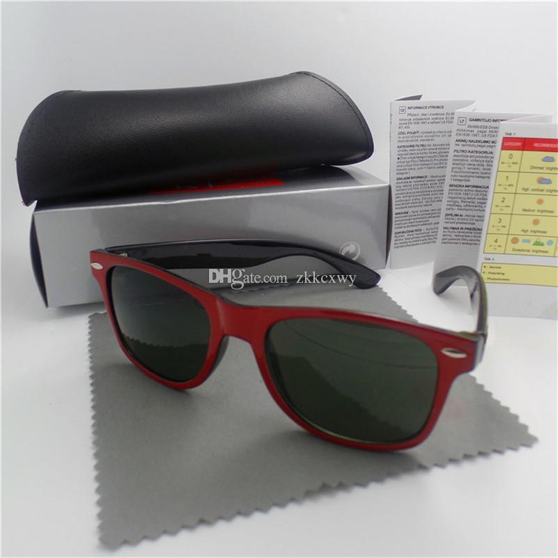Hohe qualität Marke Designer Mode Männer Sonnenbrille UV Schutz Outdoor Sport Vintage Frauen Sonnenbrille Retro Eyewear Mit box und fällen