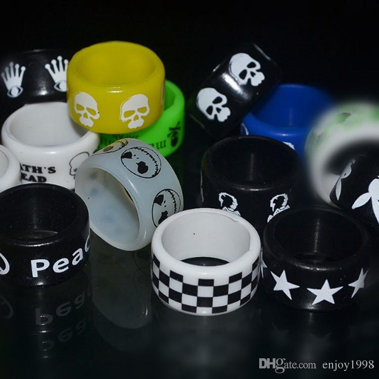OEM Weit Vape Bands 12MM mit kühlen Logo-Druck-Verkauf Customized Gummiring für die E-Zigarette über DHL