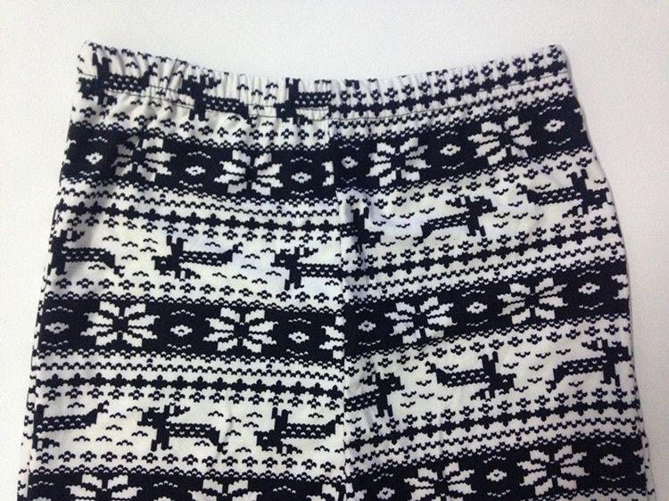 New Colorful christmas snowflake leggings Printed Silk Legging girls Women spring Warm Pants in stock