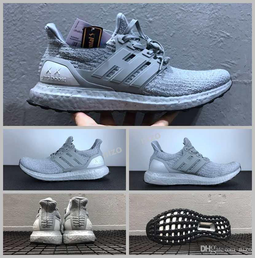 94071c34771 ... 2017 Newest Kaws X Ultra Boost 3.0 Ba8144 Triple Grey White Running  Shoes With Real Boost ...