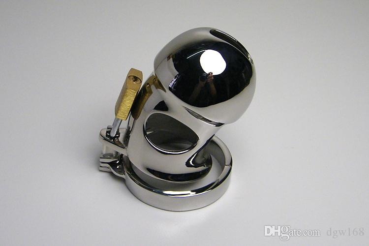Latest Style Male Chastity Device Fetish Cage Bicyclic Stainless Steel Cock Cage Penis Locked BDSM Gear