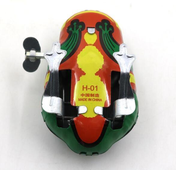 Çocuklar Klasik Kalay Rüzgar Kadar Clockwork Oyuncaklar Çocuk Boys Eğitici Ücretsiz Nakliye Için Kurbağa Bağbozumu Oyuncak YH711