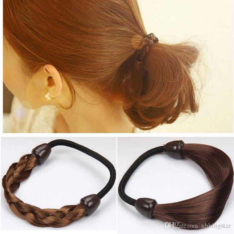 Woman Hair Rings Wig Hair Ponytail Holders Plaits Hair Circle Accessories  Rubber Band Headband Headwear Cheap Hair Clips Cheap Wedding Hair  Accessories From ... 42d4b978cb6