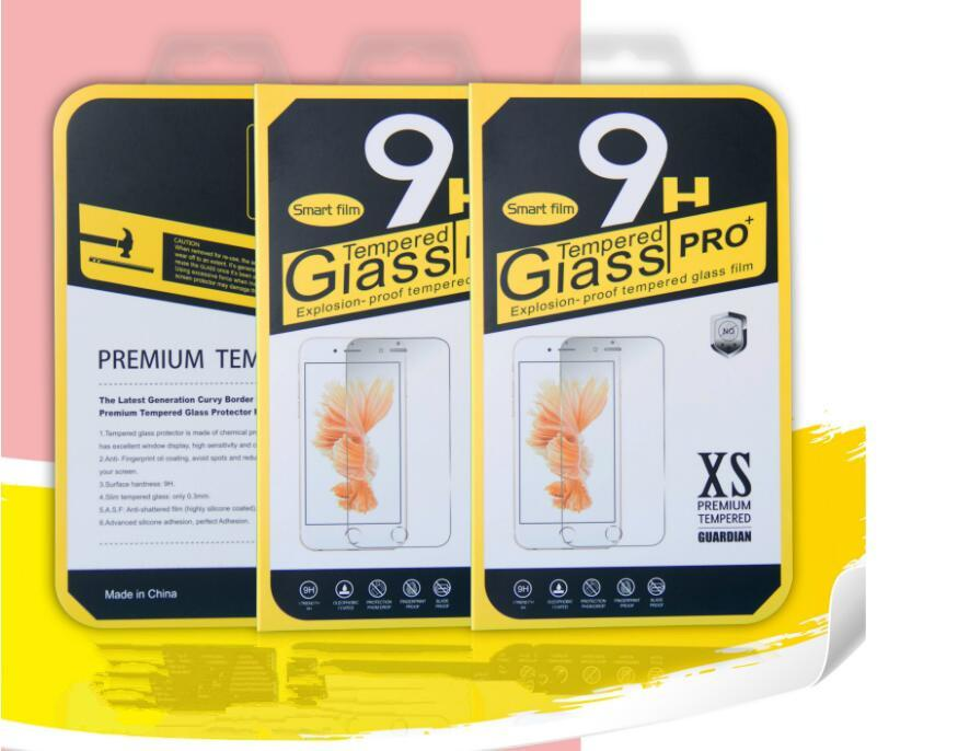 wholesale Paper Packaging Package Retail Box For iphone 7 7plus samsung Mobile phone tempered glass screen protector