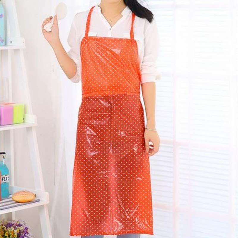 2017 nouvelle mode étanche à l'huile et étanche tablier cuisine maison transparente en plastique long vêtements de travail