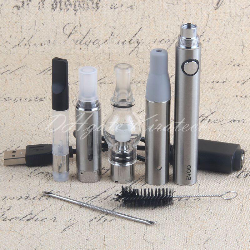 4 in 1 Vape Starter Kit Globe Glass Wax Pen Ago Dry Herb Vaporizer CE3 Tank Cartirdge MT3 Eliquid Atomizers Dabber Brush 4in1