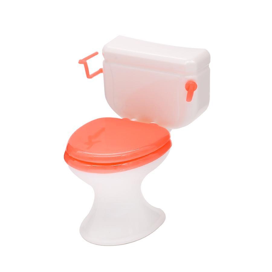 Abbyfrank Doll Furniture Toy Toilet Bathtub Bath Bathing Bowl Toilet Can Flip Wash Basin Sink Bathroom Doll Accessories Doll Toy