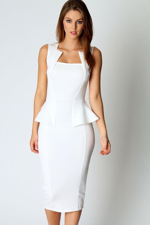 096d74200 Lady Bi Neck Detail Sleeveless Midi Bodycon Dress In White LC6150 Work Wear  Black Long Peplum Bodycon Women Business Dress 17410 Cheap Womens  Sundresses ...