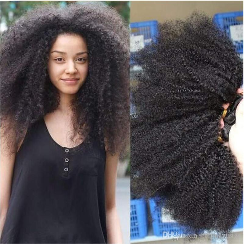 Mongolian Afro Kinky Curly Hair Bundles For Black Women Virgin Weft