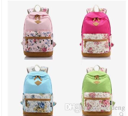 5593e30bbbf1 Designer Brand Genuine Quality Floral Leather Canvas Bag Backpacks School  For Teenager Girl Laptop Bag Printing Backpack Women Backpack.