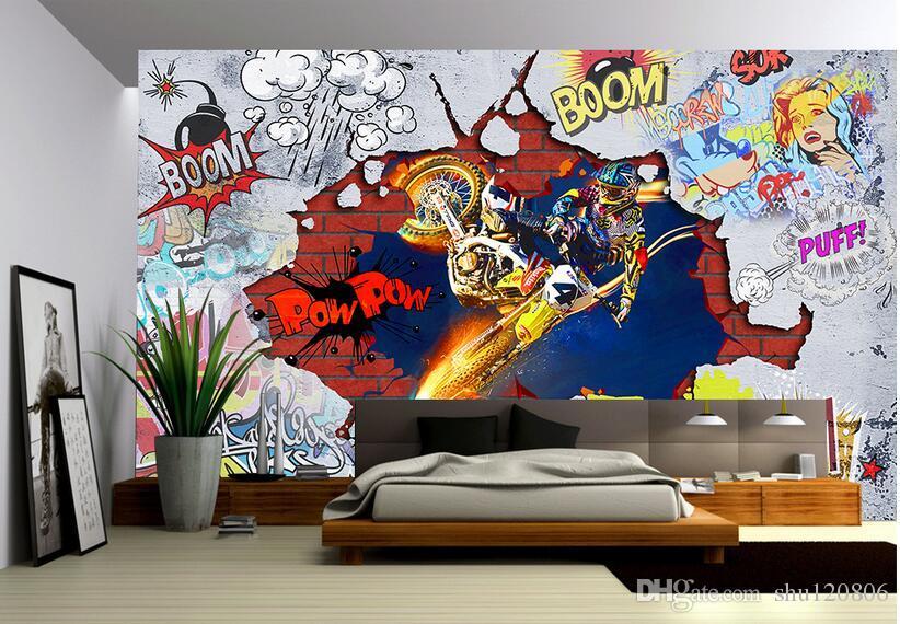 3d Wallpaper Custom Photo Non Woven Mural Cool Motorcycle
