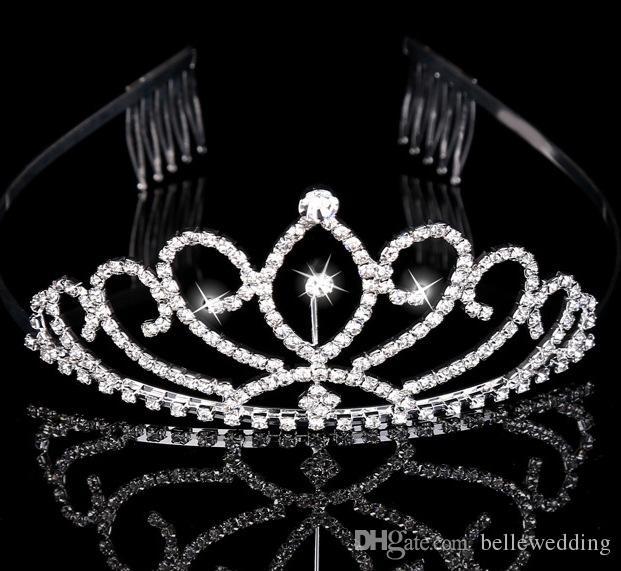 신부 왕관 크라운 모조 다이아몬드 신부 보석 여자 저녁 댄스 파티 파티 성능 선발 대회 크리스탈 웨딩 왕관 액세서리 # BW-T015
