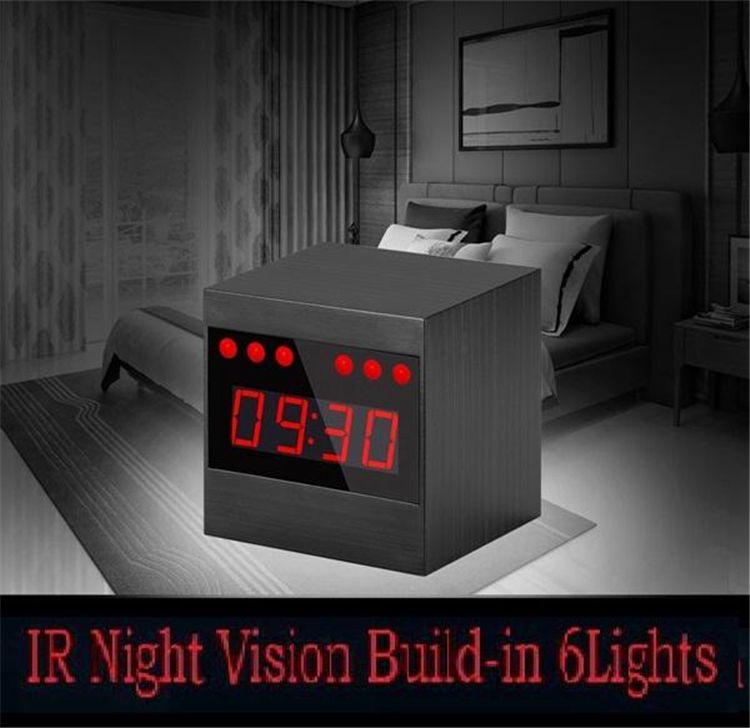 New HD 1080P IR Night Vision Camera Wifi Alarm Clock Camera Table Clock Security Camcorder P2P Video Recorder Motion Detection Nanny Cam
