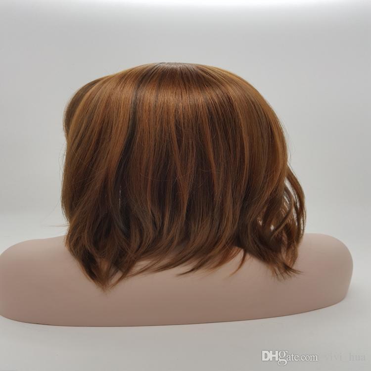XT734 Capelli ricci lunghi parrucca Molti tipi di colori sono selezionati Capelli medi di lunghezza parrucca 100% calore sintetico fibra naturale