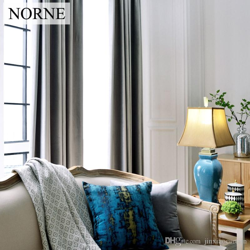 Großhandel Norne Modern Style Einfarbig Heavy Velvet Blackout Super ...