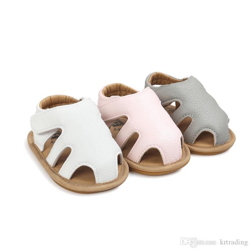 3colors Baby soft pu toe-protection sandals infants boys girls summer first walkers toddlers outdoor shoes prewalkers for 0-1T
