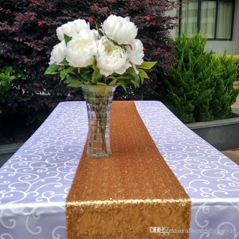 12x108 gold silver champange sequin table runner sparkly bling table rh dhgate com
