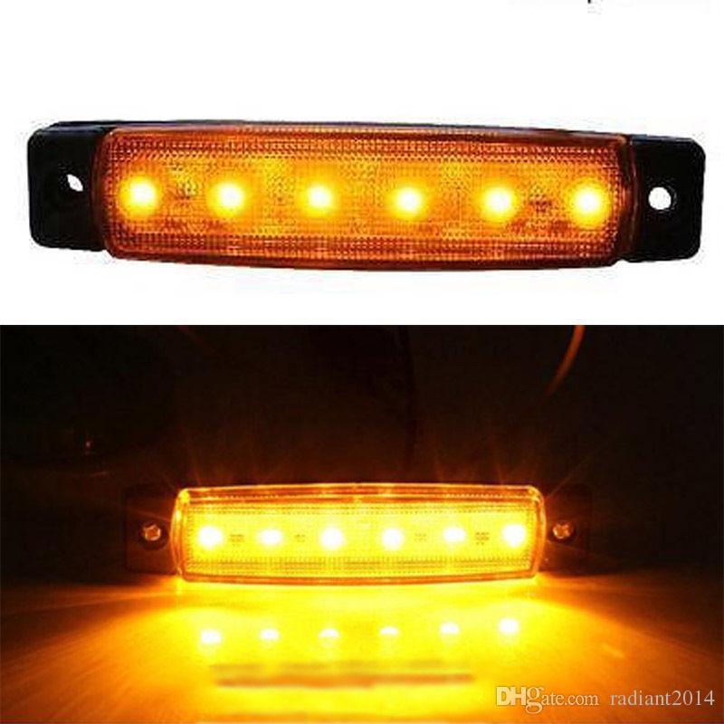 20 luces ámbar del lado del LED del PCS para la lámpara 12V de la liquidación del autobús del remolque del camión