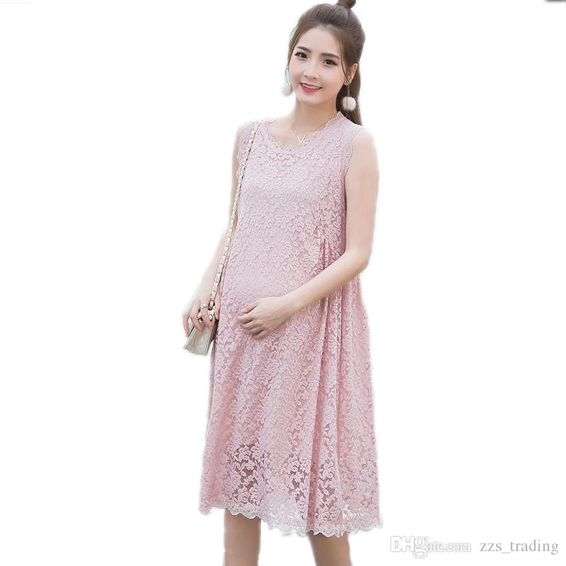 a327ced53ec 2017 Maternity Clothing Maternity Dresses Summer Sleeveless Lace Dress  Clothes For Pregnant Women Roupa Gestante Pregnancy Clothes Maternity  Clothes ...
