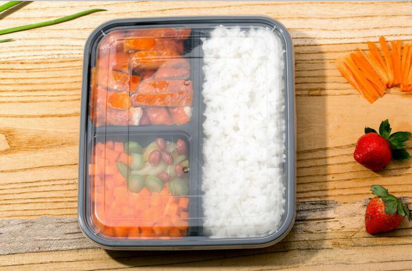 Online Cheap 3 Compartment Reusable Food Storage Containers With