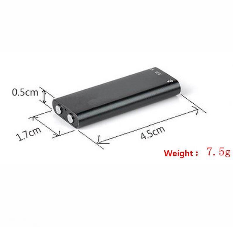 Ingrosso-3 in 1 Stereo MP3 Player 8G Mini Digital Audio Registratore vocale Dictaphone 16 GB di memoria USB Flash Disk Drive
