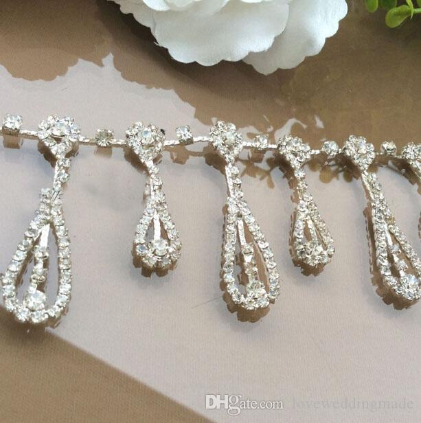 Handmade Bride Wedding Belts Chain Decoration Super Flash Glass Damond Hat Decoration Dand Sewing