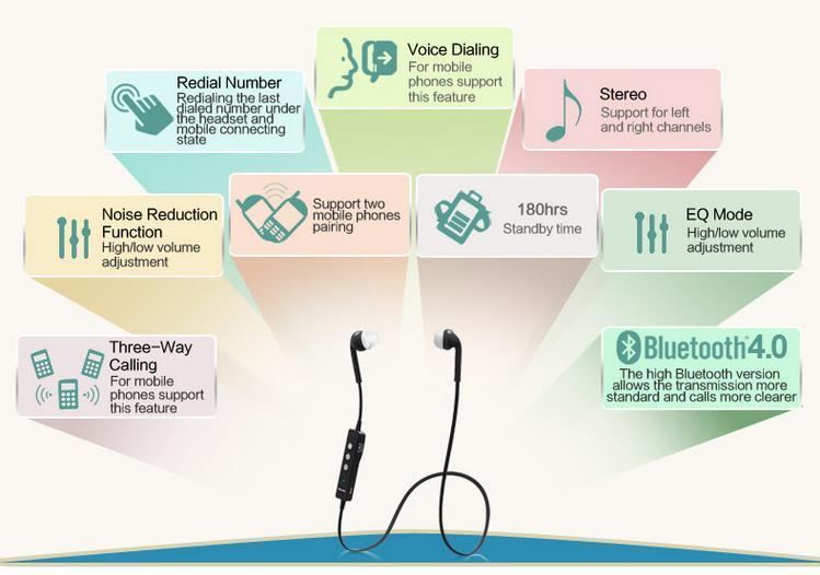 Nuevo Wireless Bluedio N2 Auricular Bluetooth V4.1 Auricular Estéreo Auricular A prueba de sudor Muti-point Comando de voz para iphone samsung