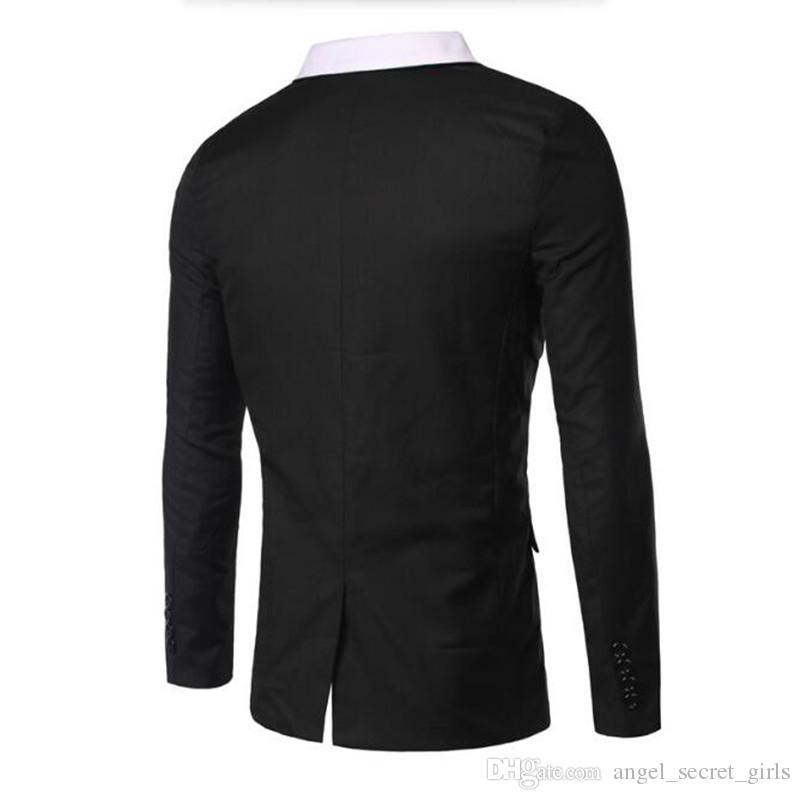 Homens à moda ternos jaqueta branca ternos formais jaqueta lapela preta um botão custom made noivo casamento smoking jaqueta