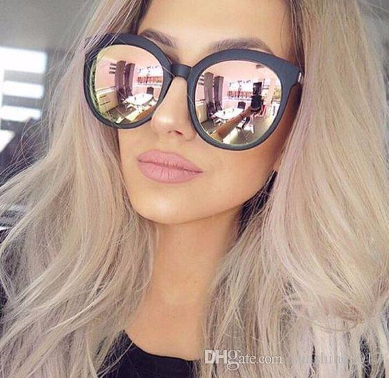pink Reflect sunglasses woman shades mirror female square sun glasses for women coating oculos 2017 fashion brand designer sunglasses UV400