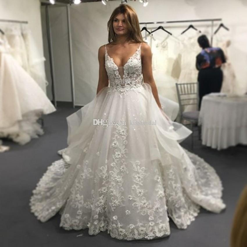 Vinca sunny lace wedding dresses 2017 sexy backless v neck applique vinca sunny lace wedding dresses 2017 sexy backless v neck applique long court train 3d lace summer bridal gowns vestido casamento gorgeous wedding dresses junglespirit Gallery