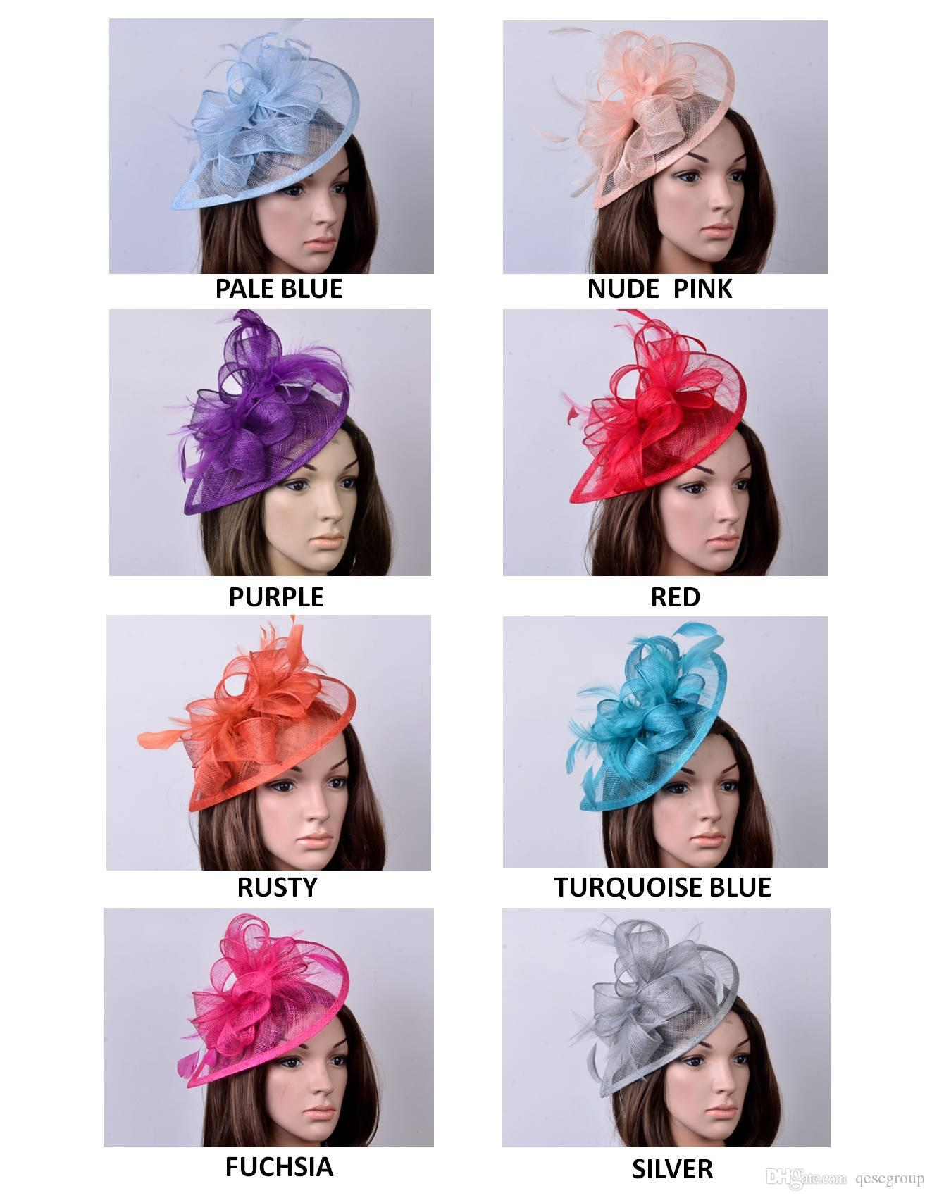23672a70a4adb HOT Special Shape Sinamay Fascinator Hat in SPECIAL Shape with ...
