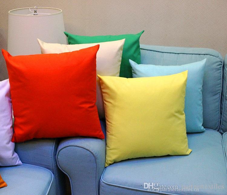 18x18 인치 일반 염색 한 8 온스면 화포 던지기 베개 상자 빈 가정 장식 베개 커버