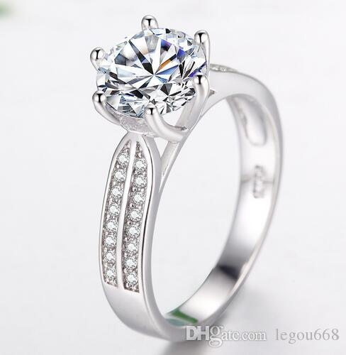 2017 New European and American foreign trade explosion, jewelry rings, female lovers ornaments, micro inlaid zircon wedding ring