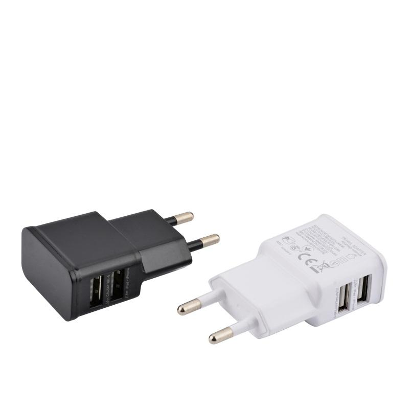 Universal 2A EU Plug 2 Dual Port USB Wall Charger Adapter For Samsung Galaxy S4 S3 Note 2 3 iPhone 4 5