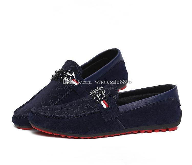 ca48cb9a0 Compre Mocasines Rojos Mocasines Zapatos De Hombre Negro Resbalón En Los  Zapatos Planos De Ocio De Los Hombres Mocasines Respirables De Hombre De  Moda ...