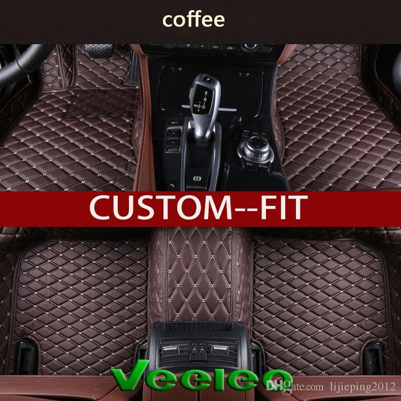 2019 Veeleo Custom Fit Leather Car Floor Mats For Audi A1 A3 A4 B8