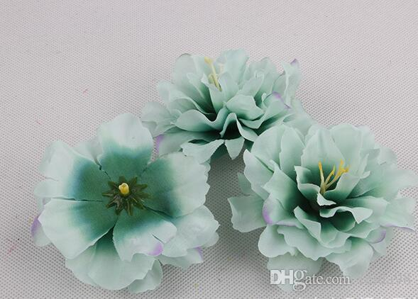 9 cm Peônia Flor De Seda Artificial Subiu Chefes Para O Cabelo Festa de Casamento Decoração Artesanato Floral G626