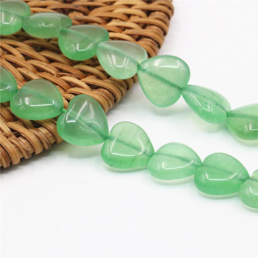 fa4b9e14ecf7 12mm Green Aventurine Quartz Accessories Loose Beads Heart Jasper ...