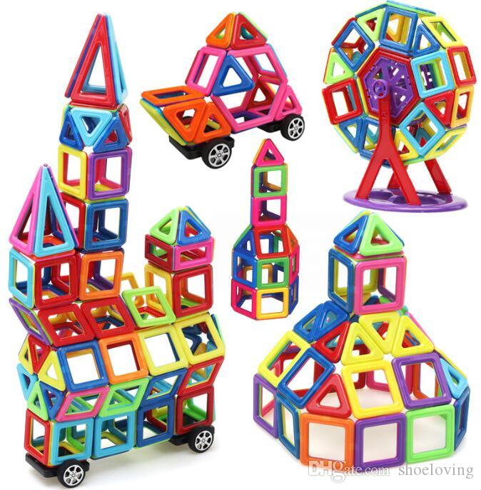 Magnetic Blocks Toys 3D Magnet Bricks Stacking Set Magnetic Blocks Building Puzzle Education Toys