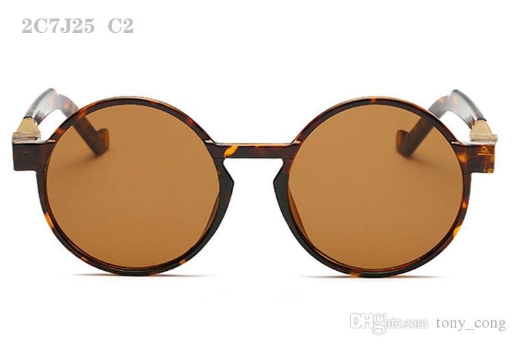 Солнцезащитные очки для мужчин женщин роскошные мужские солнцезащитные очки мода солнечные очки ретро солнцезащитные очки дамы солнцезащитные очки круглые дизайнерские солнцезащитные очки 2C7J25