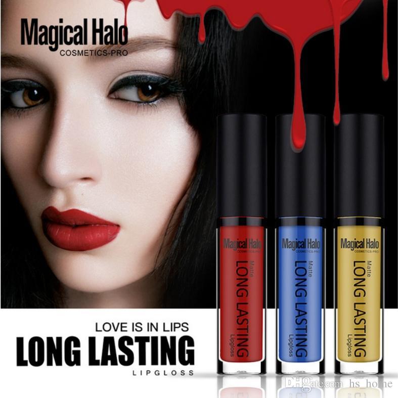 Sexy langlebige wasserdichte ultra matte flüssige Lippenstift-Feuchtigkeitscreme-Samt-Lippenstift-kosmetisches Schönheits-Make-up 38 Farbwahlen